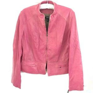 DKNY Lambskin Leather Jacket